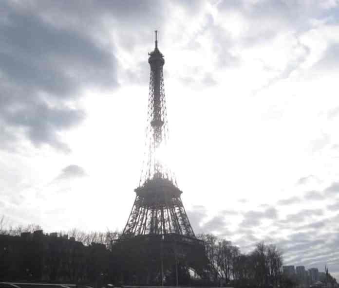Eiffel Tower seen from a Seine river cruise
