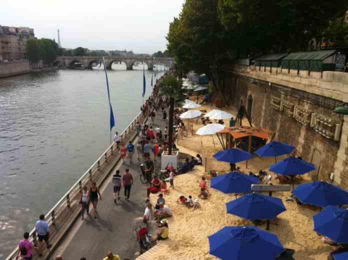 Summer in Paris . Beach, fesitvals, exhibits