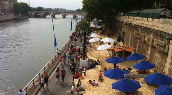 Paris Beach in Summer