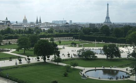 View on Tuileries garden