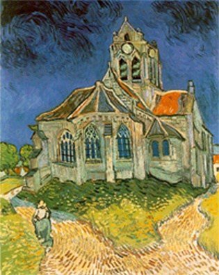 Auvers sur Oise Church by Van Gogh