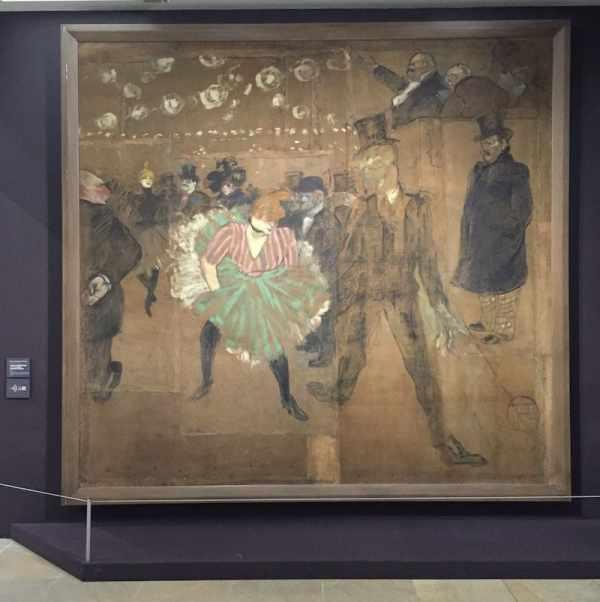 Dansen in de Moulin Rouge in Toulouse-Lautrec in het Musée d'Orsay.