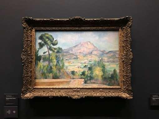 Montagne Sainte-Victoire van Paul Cézanne in het Musée d'Orsay