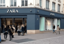 Zara Shop in Centre of Paris