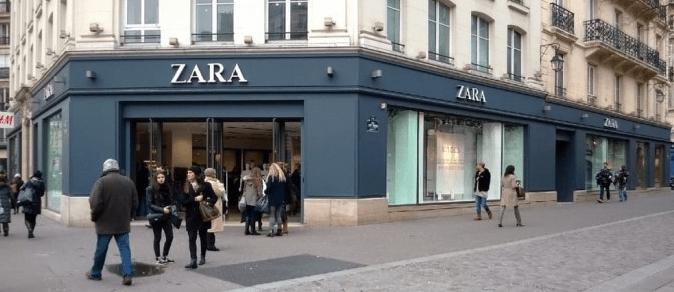 Zara Shop in Centre of Paris