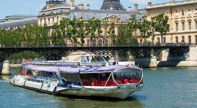 Crucero par el Sena con almuerzo Bateaux Mouches