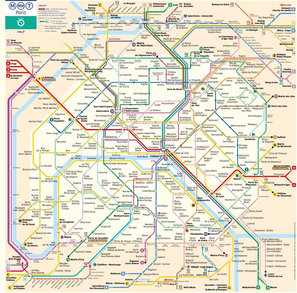 Nueva mapa del Metro de Paris