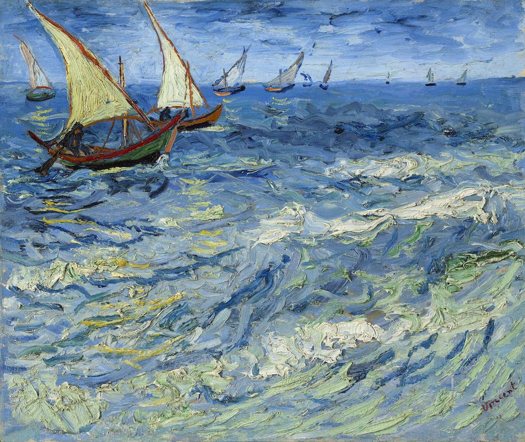 Vincent Van Gogh, La mer aux Saintes-Maries, 1888