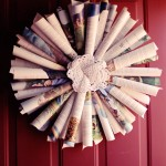 [TUTORIAL] DIY Book / Paper Christmas Wreath… thing