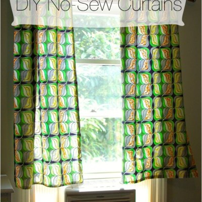 DIY No-Sew Curtains | Nursery Project