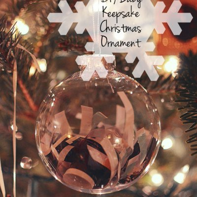 Cheap & Easy DIY Baby Keepsake Christmas Ornament