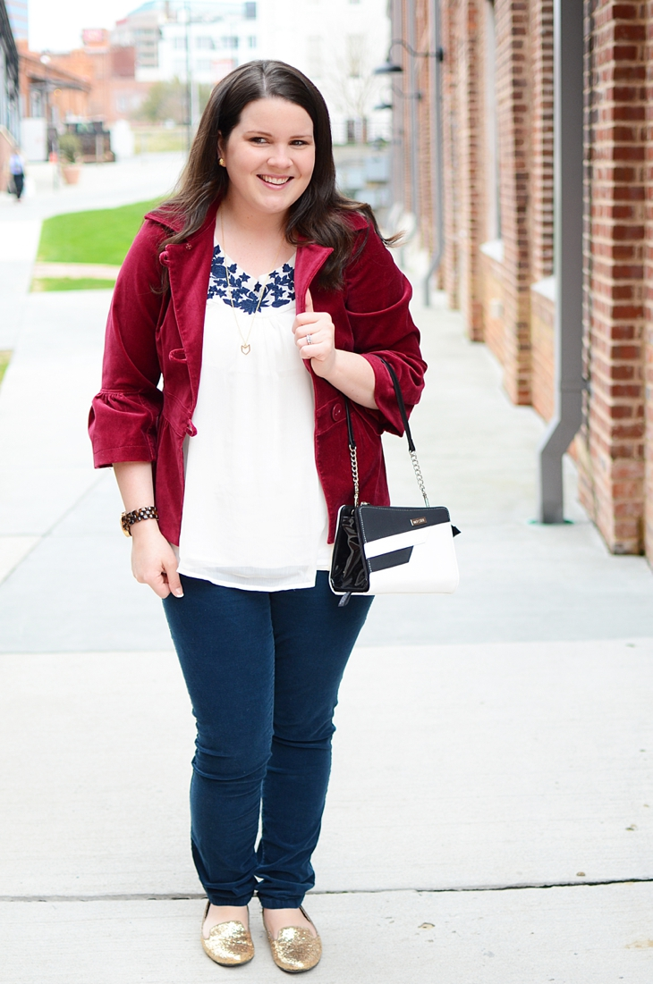 Navy, burgundy, and Miche interchangeable bag! (5)