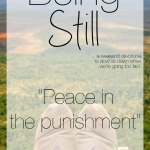 Being Still | Peace in the Punishment