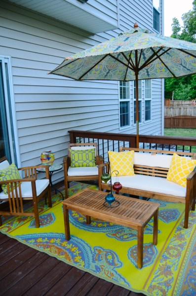 outdoor patio deck DECK-orating!   The Mini-Deck Makeover   Still Being Molly