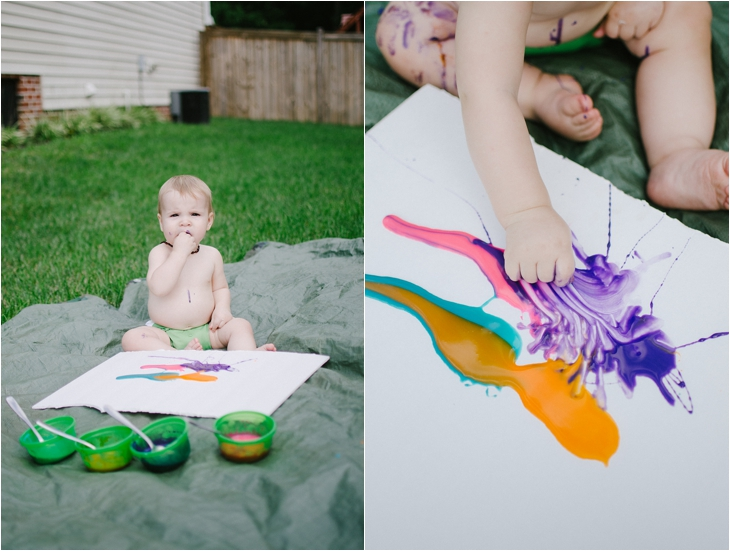 Messy Fun: DIY Edible Finger Paint for Babies (2)