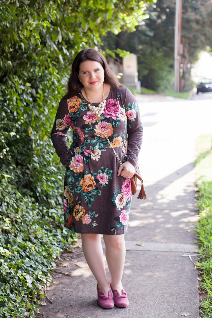 Joules rose sweater dress, Hotter.com Donna heels (1)