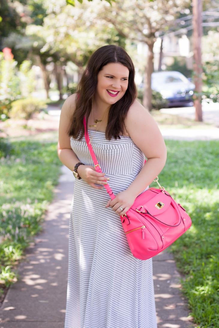 How to Wear Gap Striped Maxi Dress Three Different Ways (2)