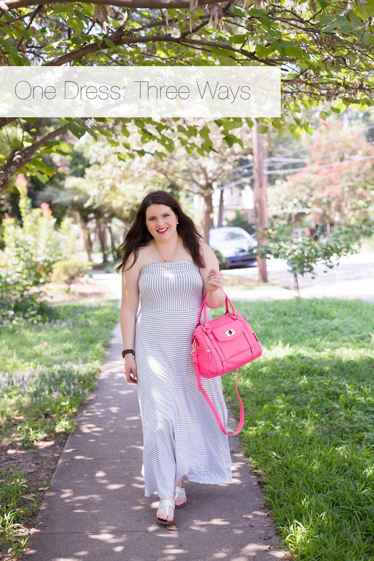 How to Wear Gap Striped Maxi Dress Three Different Ways (10)
