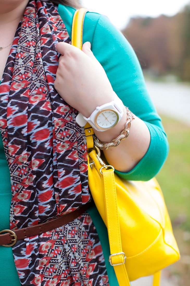 How to wear a belted scarf (3)