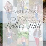 Seven Ways to Wear a Leather Moto Jacket & A Giveaway!