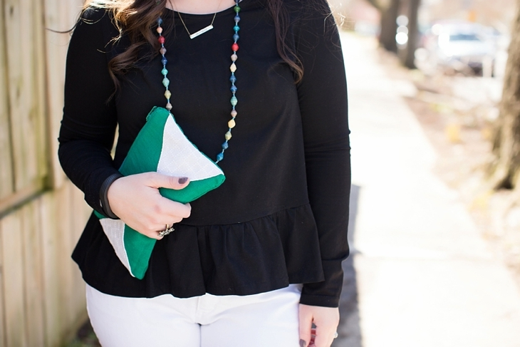 Elegantees, Mighty River Project Necklace, White boyfriend jeans, Root Collective Peep Toe - North Carolina Fashion Blogger (5)
