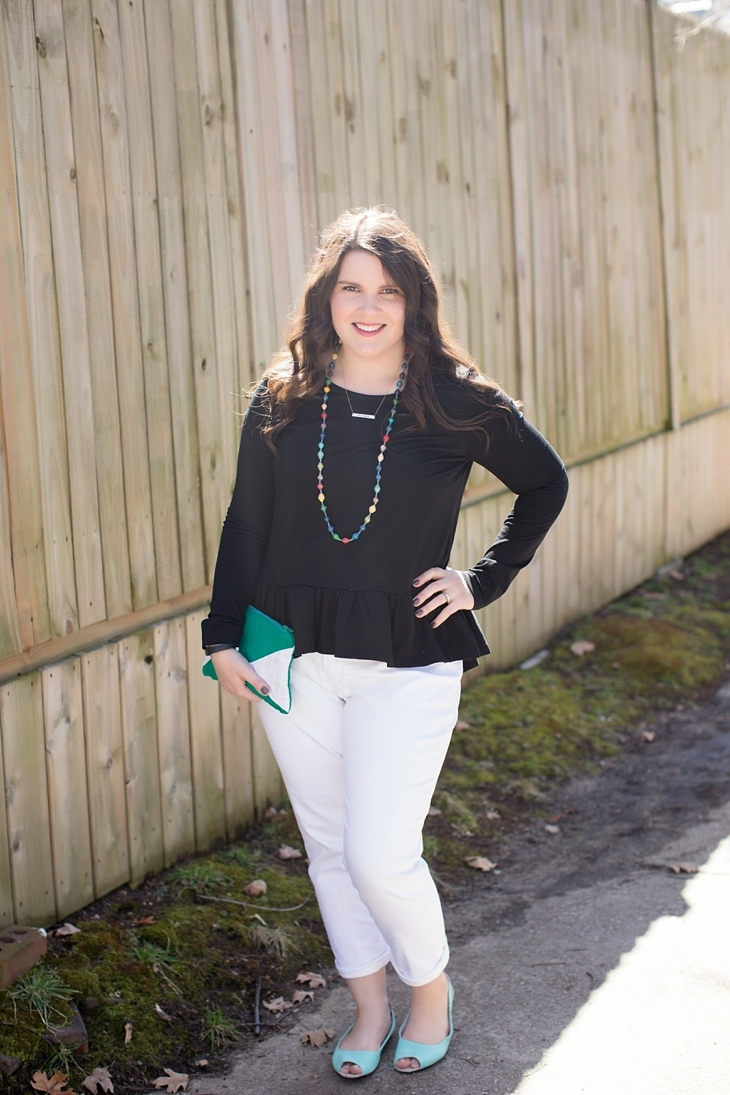 Elegantees, Mighty River Project Necklace, White boyfriend jeans, Root Collective Peep Toe - North Carolina Fashion Blogger (6)