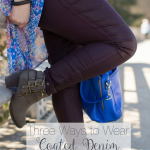 Three Ways to Wear Coated Denim & Link-Up