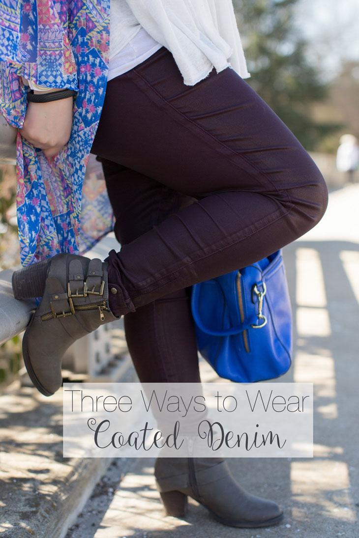 Three Ways to Wear Coated Denim
