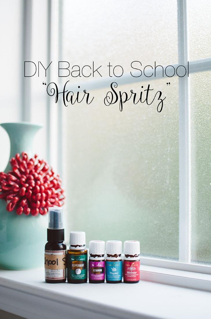 "Back to School Recipe | DIY ""Hair Spritz"" with Essential Oils (1)"