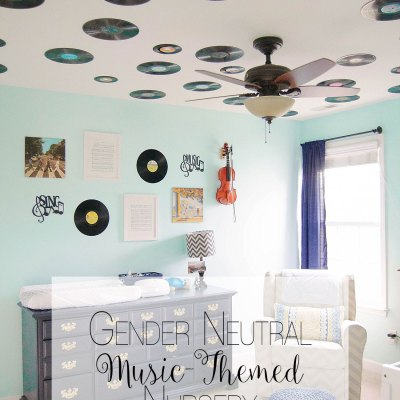 Amos's Music Themed Nursery Reveal & Link Up