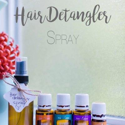 DIY Hair Detangler & Curling Spray with Essential Oils