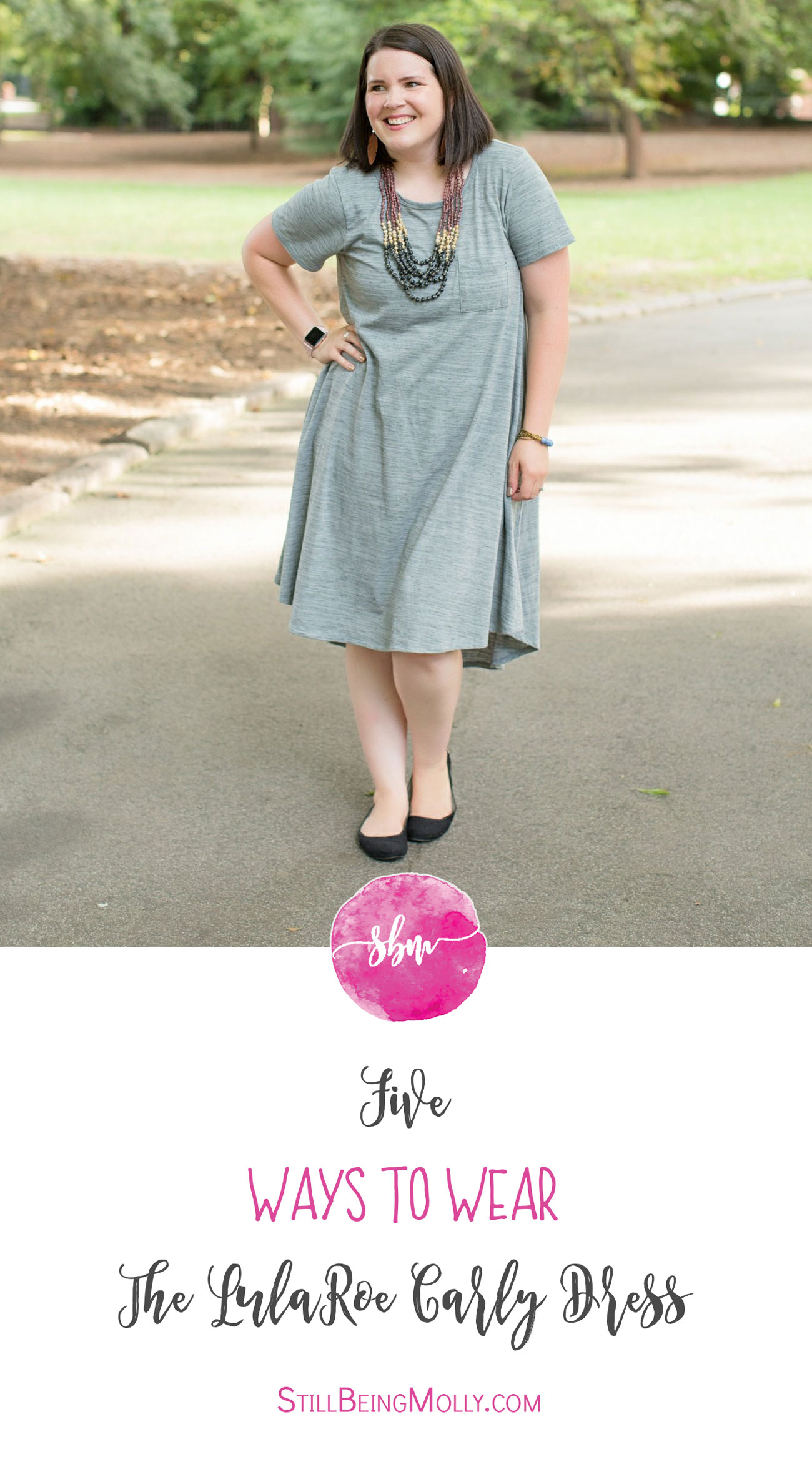 Five Ways to Wear the LulaRoe Carly Dress   How to Style the LulaRoe Carly Dress