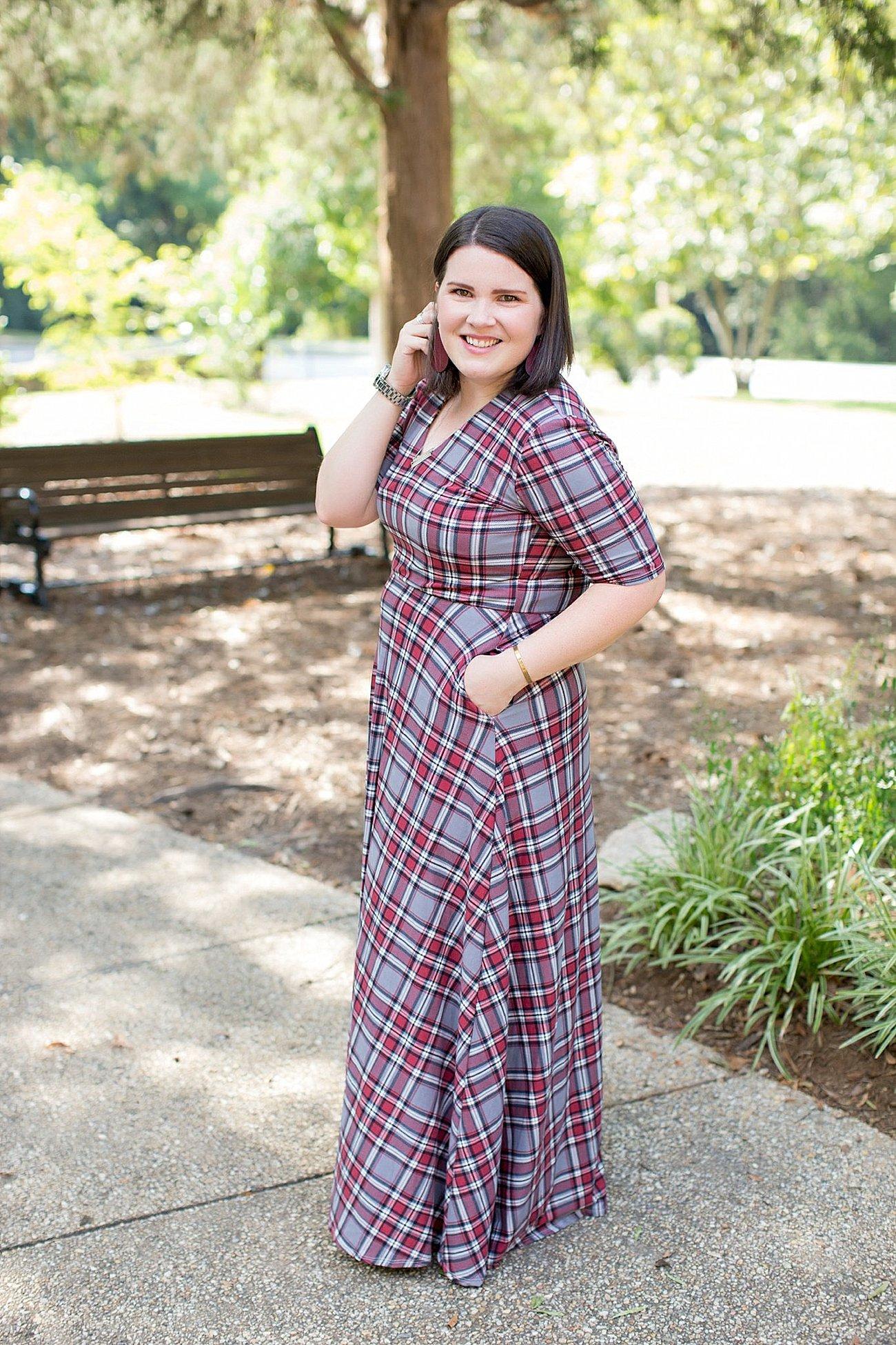 Agnes & Dora plaid Austen dress, herringbone vest, fall fashion, ethical fall fashion | North Carolina life and style blogger (10)