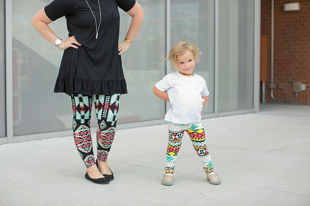 Agnes & Dora black ruffle tunic, Agnes & Dora matching mommy and me leggings (8)