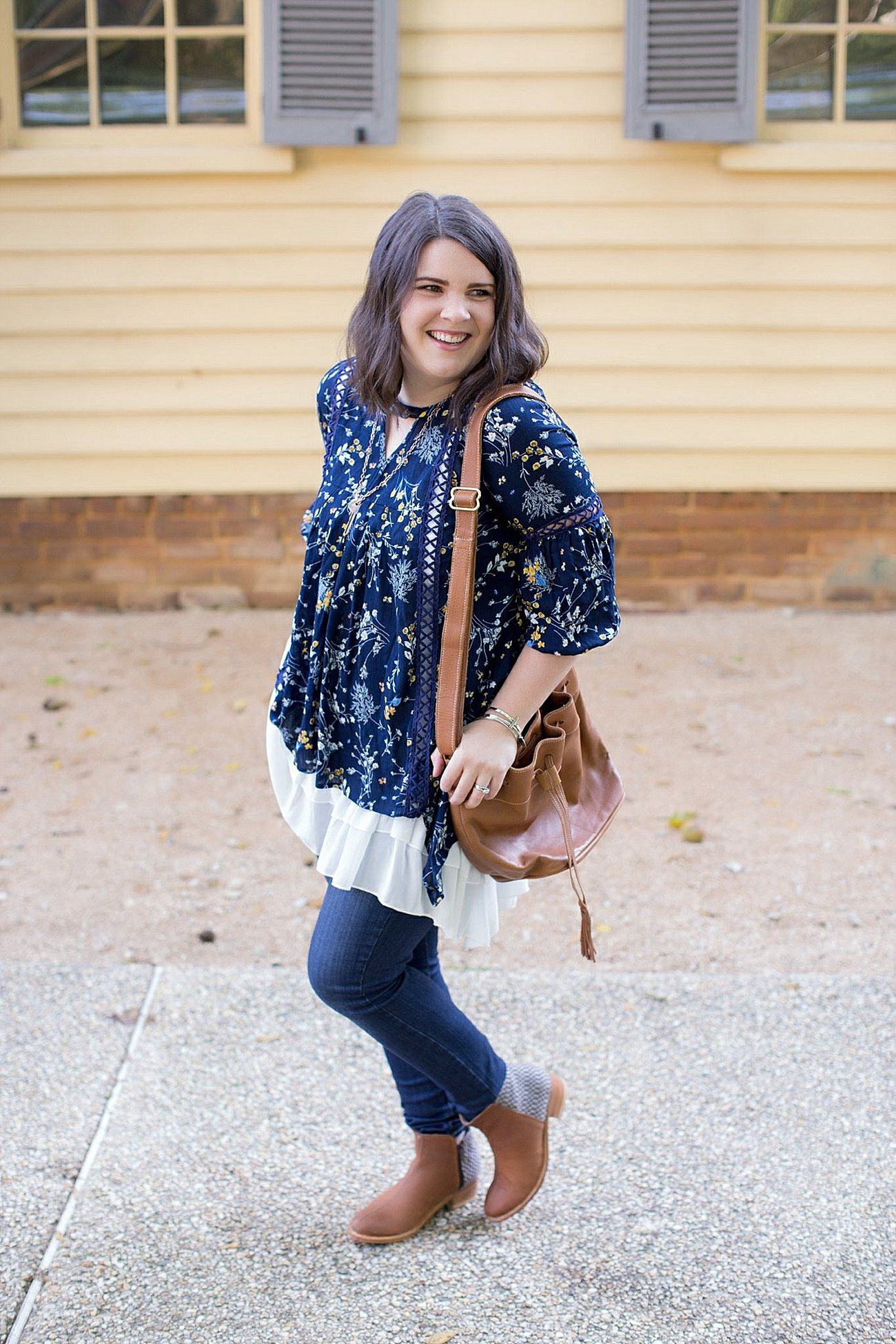 Grace & Lace peasant top and chiffon lace extender from The Flourish Market, Paige denim, Root Collective espe booties | Ethical Fashion, North Carolina Life and Style Blogger (10)
