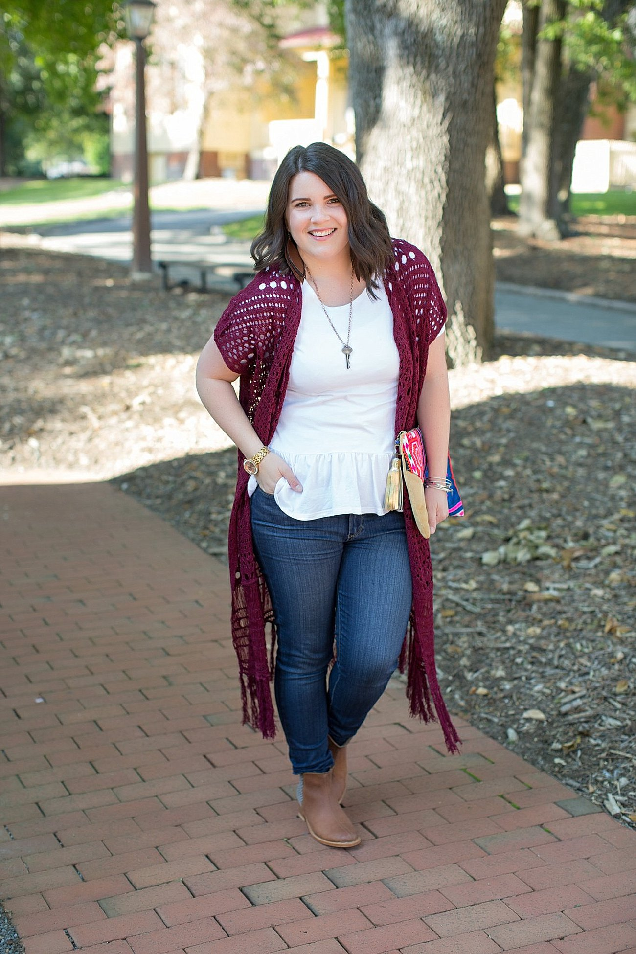 The Flourish Market Grace & Lace crochet duster, The Root Collective Espe booties (2)