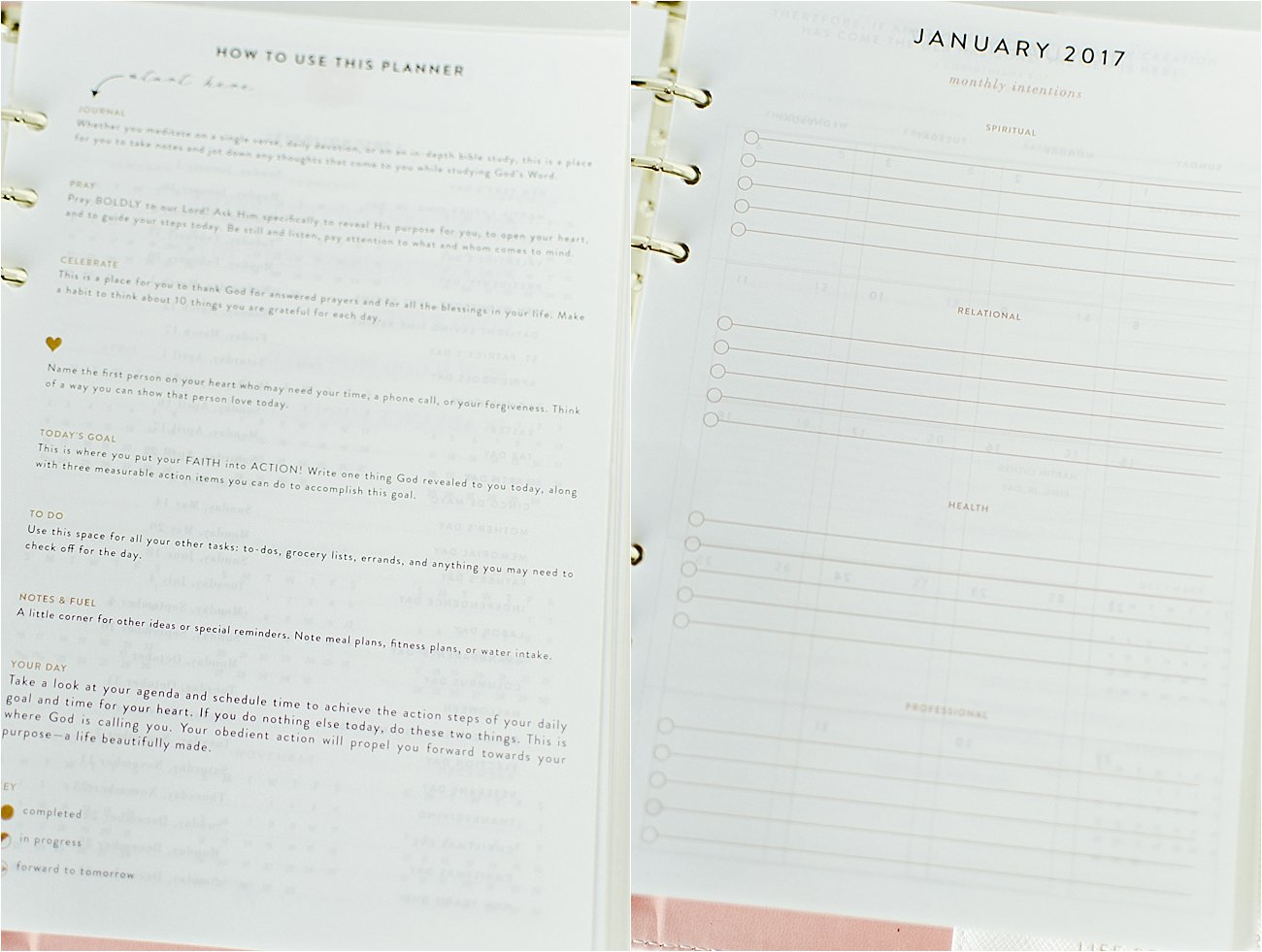 Taking on 2017 with The Intentional Planner   Intentional Planner Review - Christian Planner and Prayer Journal Review (8)