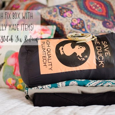 A Stitch Fix Box with Ethically Made Items, a Stitch Fix Giveaway, & Link-Up!