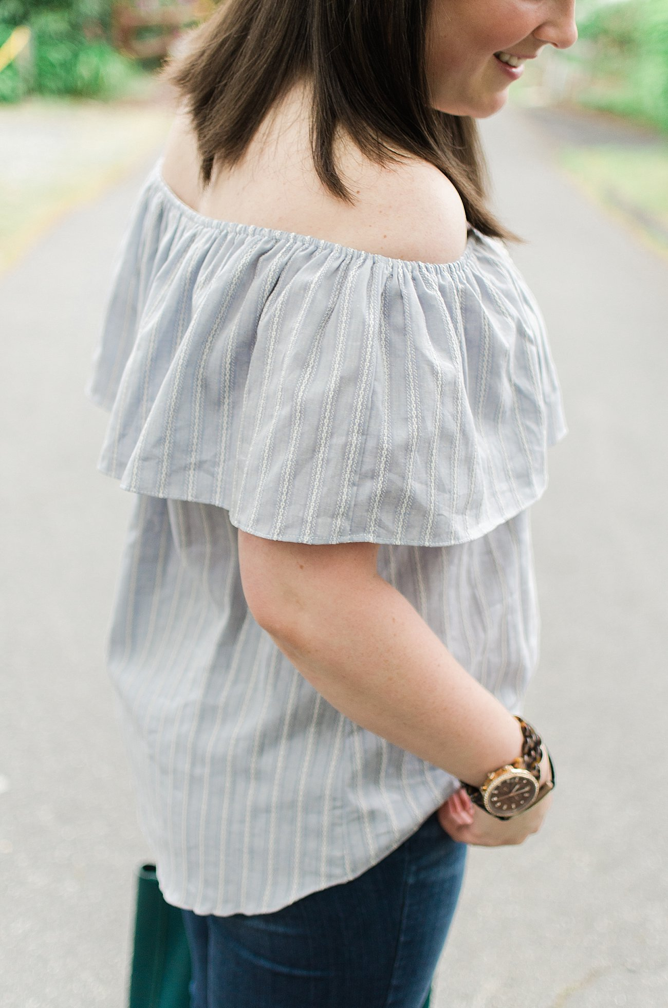 """This is For Those of You Asking """"Are Off the Shoulder Tops For Me?"""" by ethical fashion blogger Still Being Molly"""