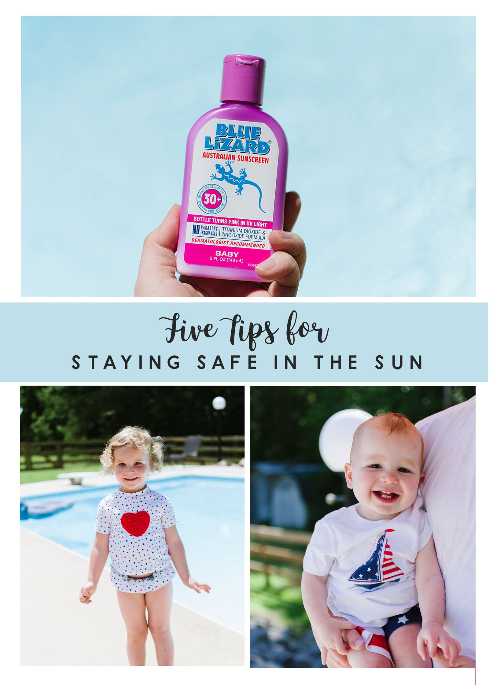 Sun Protection: 5 Tips for Being Safe in the Sun this Summer by lifestyle blogger Still Being Molly