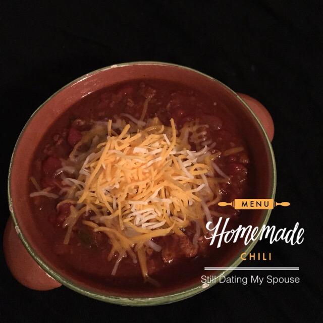 Comfort food: Homemade Chili Recipe