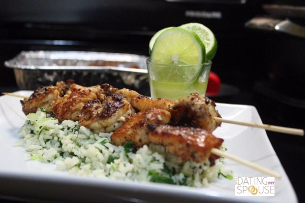 Cilantro Rice and Fish Date Night Meal