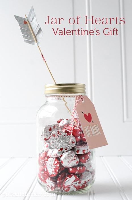 Jar of Hearts, a Valentine's Day Mason Jar Gift Idea -
