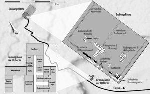 Grabungsareal und Grabungshaus