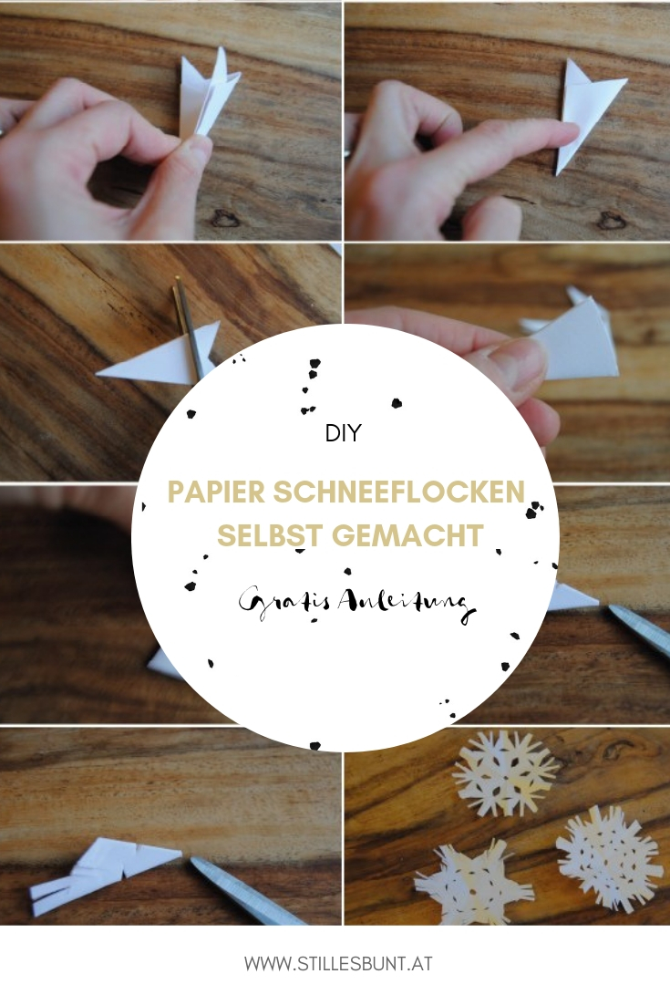 DIY Papier Schneeflocken