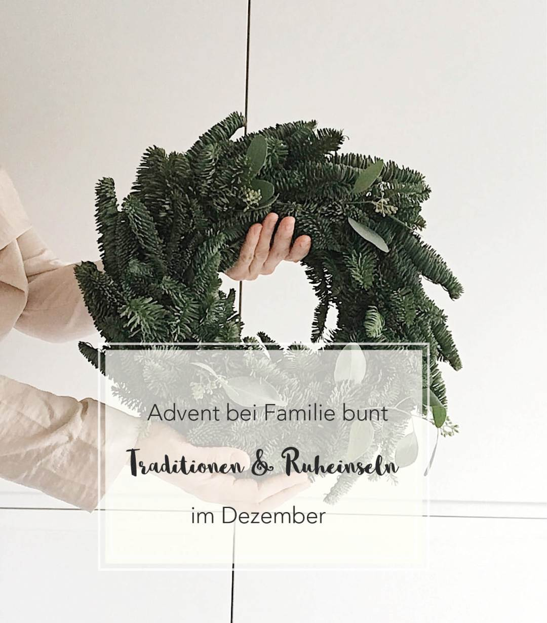 Advent bei Familie bunt Titelbild