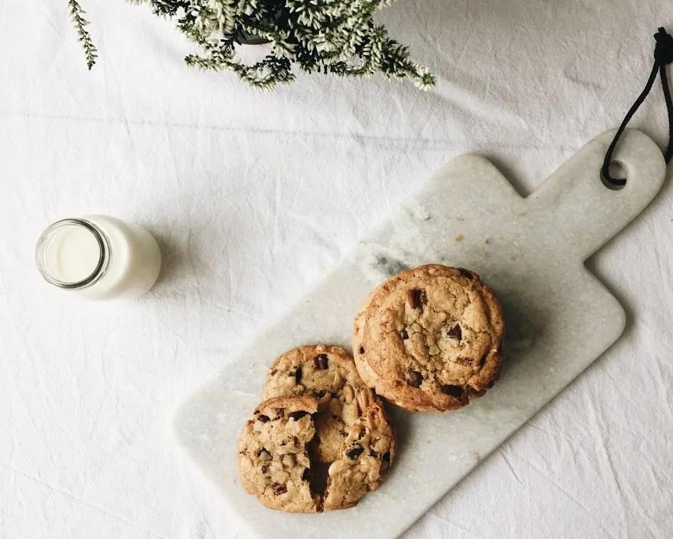 Cashew Chocolate Chip Cookies , Rezept, backen, american cookies, die besten cookies, knusprig, weich, schnelle cookies, einfrieren, meal prep cookies