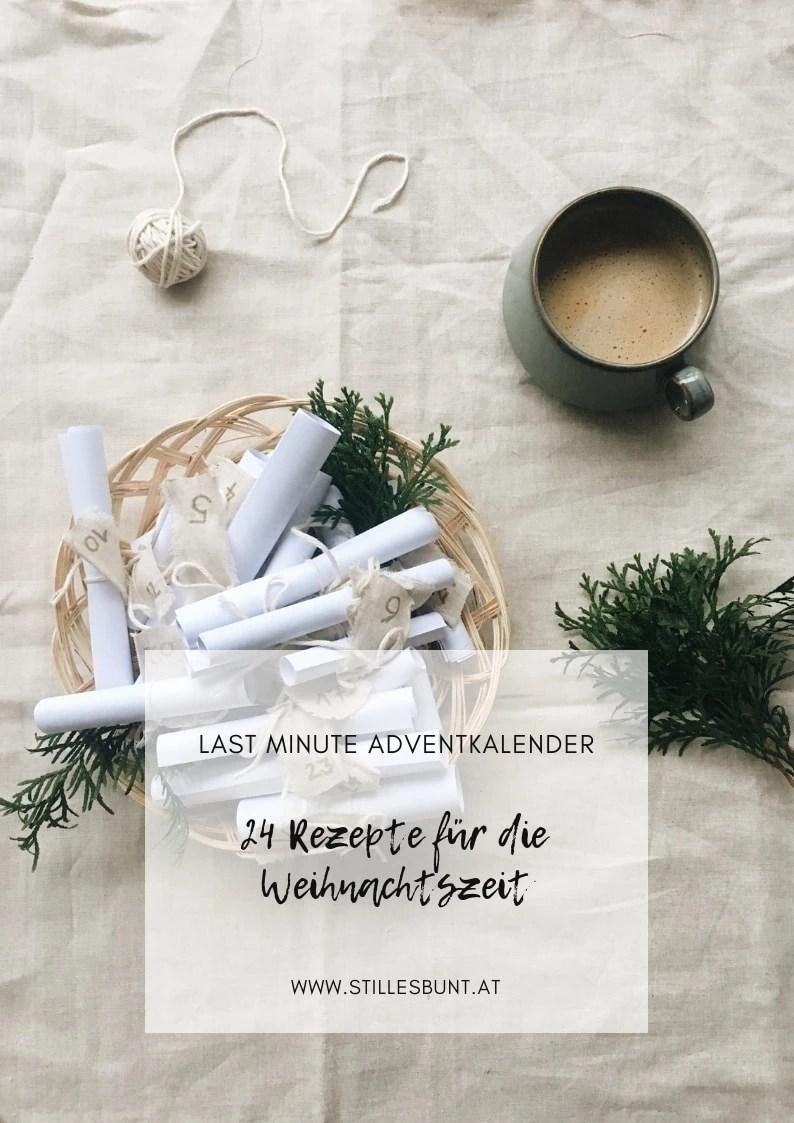 DIY Adventkalender zum Ausdrucken 24 Rezepte