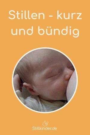 Ein neugeborenes Baby an der Brust