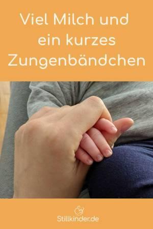 Mamahand und Babyhand